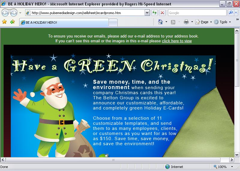 Idea News & A Green Christmas To You!